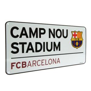 Plechová cedulka Barcelona FC ulice