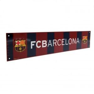 Plechová cedulka Barcelona FC pruhovaná