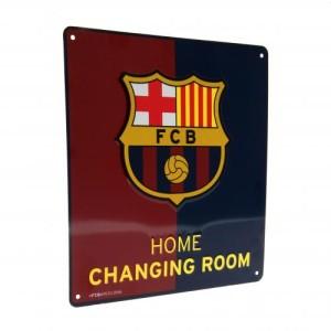 Plechová cedulka Barcelona FC šatna