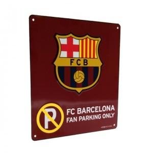 Plechová cedulka Barcelona FC No Parking