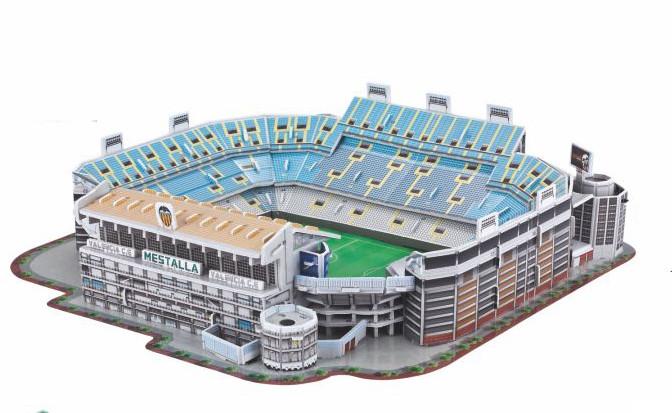Puzzle 3D stadion Mestalla Valencia