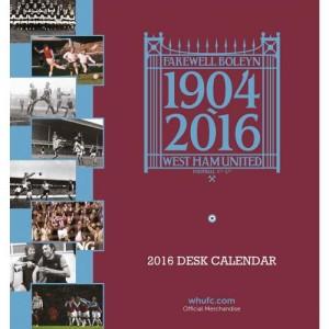 Stolní kalendář 2016 West Ham United FC